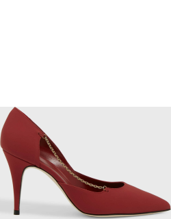 Marskinryyppy Joi 70 Point-Toe Leather Pumps,