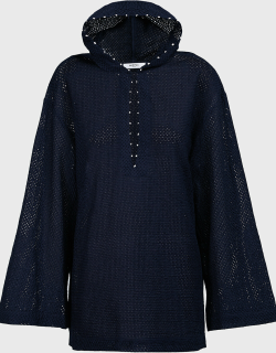 Marysia Knot-Detail Hooded Tunic,