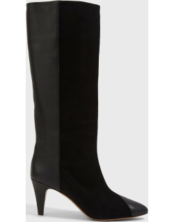 Isabel Marant Leas Suede-Leather Knee-High Boots, IT37