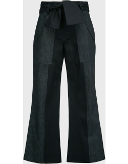 Derek Lam 10 Crosby Nellie Cropped Flared Trousers,