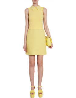 boutique moschino laced collar dress
