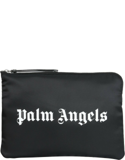palm angels pouch with logo