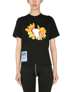 mcq fascinated flowers t-shirt
