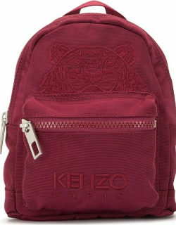 Kenzo Canvas Tiger Embroidered Mini Backpack Red
