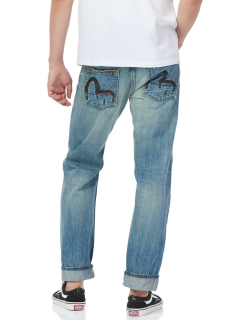 Regular-fit Selvedge Denim Jeans with Bloody Seagull Embroidery
