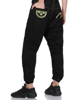 3D Jogger Jeans with Kamon Embroidery