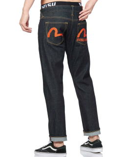 Seagull Texture-embroidered 2010 Slim-fit Cropped Jeans