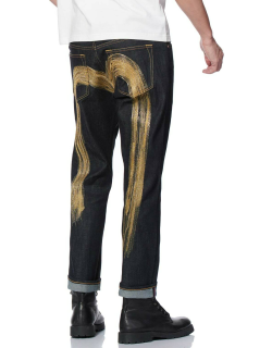 Ink-like Effect Daicock Embroidered 2010 Slim-fit Cropped Jeans
