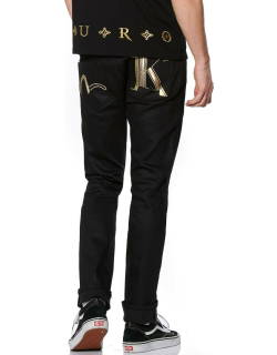 Stretch Skinny-fit Jeans with Double Initial Embroidery
