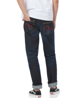 Hand-painted Dripping Seagull Regular Fit Jeans 2008