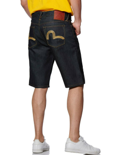 Gold Seagull Embroidered Denim Shorts