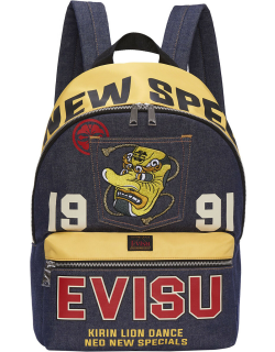 Logo Printed Backpack with Tengu Embroidery