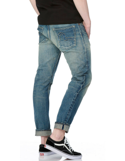 Carrot-fit Seagull Patch Selvedge Denim Jeans