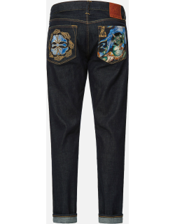 Fujin and Kamon Embroidered Carrot Fit Jeans #2017