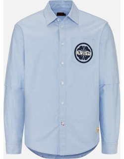 Logo Embroidered 2-in-1 Oxford Shirt