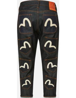 Multi-pockets Cropped Jeans #2027