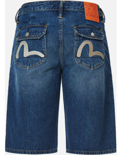 Seagull Embroidered Denim Shorts