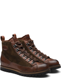 Church's Vintage Calf & Suede Lace Up Boot Man Brown