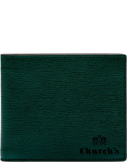 Church's St James Leather 8 Card Wallet Man Emerald