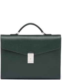 Church's St James Leather Briefcase Man Emerald
