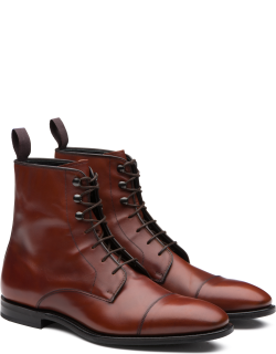 Church's Calf Leather Lace-up Derby Boot Man Brandy