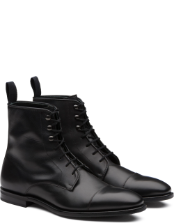 Church's Calf Leather Lace-up Derby Boot Man Black