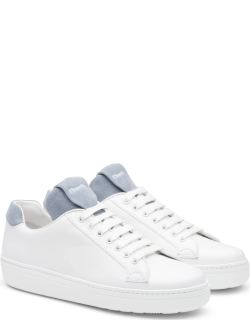 Church's Calf Leather And Suede Classic Sneaker Woman White/opaline