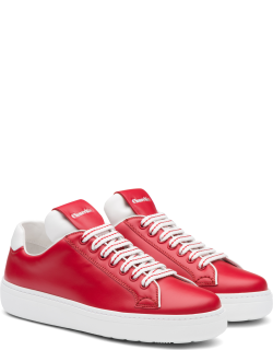 Church's Calf Leather Classic Sneaker Woman Red/white