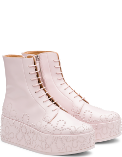 Church's Polished Binder Lace-up Boot stud Woman Pink