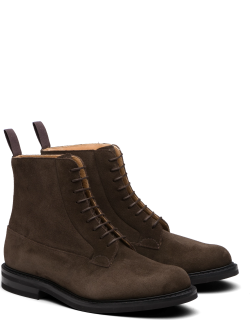 Church's Suede Lace-up Derby Boot Man Brown