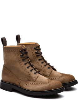 Church's Waxed Suede Lace-up Boot Brogue Man Burnt
