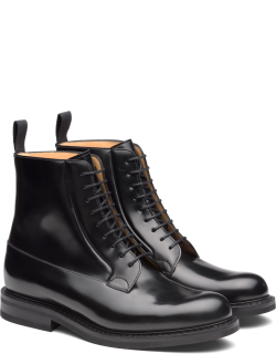 Church's Suede Lace-up Derby Boot Man Black