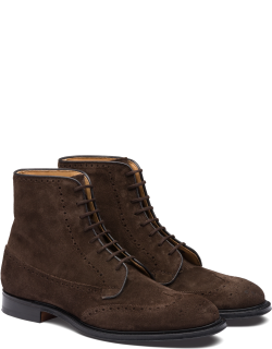 Church's Suede Lace-up Boot Brogue Man Brown