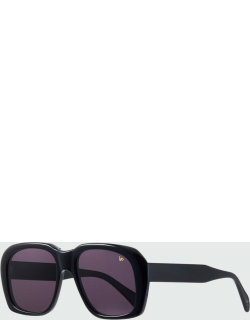 Men's Chunky Solid Square Sunglasses