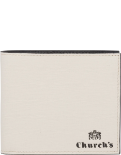 Church's St James Leather 4 Card & Coin Wallet Man Chalk White