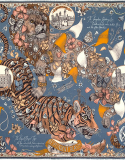 Sapphire Lion And Tiger's Tea Party Scarf