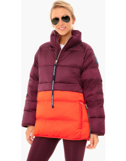 Wine And Red Packable Performance Satin Down Jacket