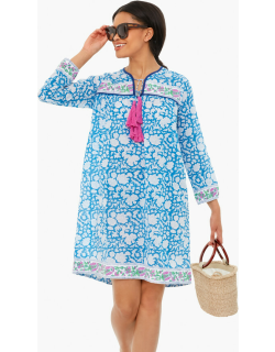 Blue And White Floral Leyla Dress