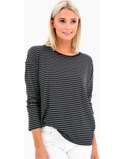 Pencil Striped Relaxed Tee
