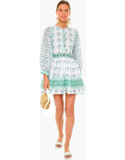 Provence Floral Tie Front Balloon Sleeve Dress
