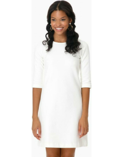 Cashmere Touch White Jersey Dress