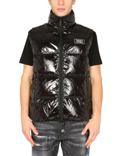dsquared quilted padded vest