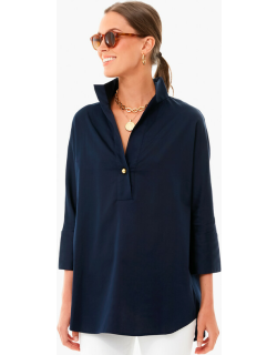Navy Willow Blouse