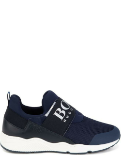 Boss Logo Strap Trainers - Navy 849
