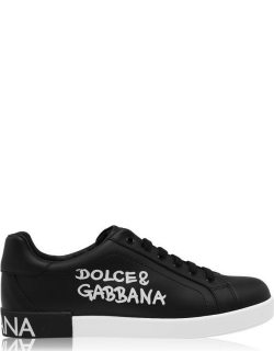 Dolce and Gabbana Side Logo Sneakers - Black HNF57