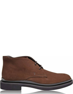 TODS Suede Chukka Boots - Caffe S804