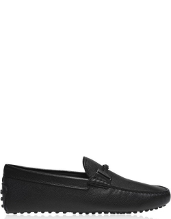 TODS New Double T Driver Loafers - Black B999