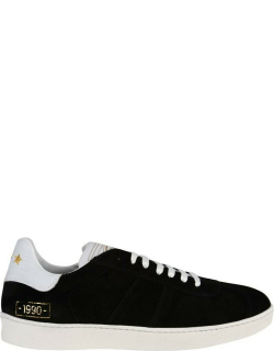 PANTOFOLA D ORO Panto Suede Trainers - BLACK/WHITE