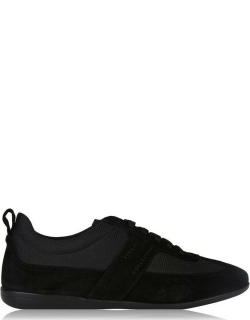 Versace Collection Suede Low Top Trainers - Black V850
