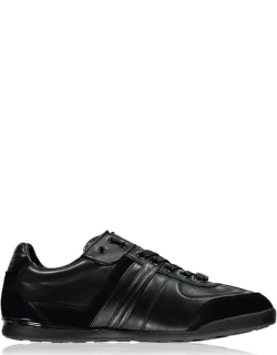 BOSS Aki Leather Panelled Trainers - Black